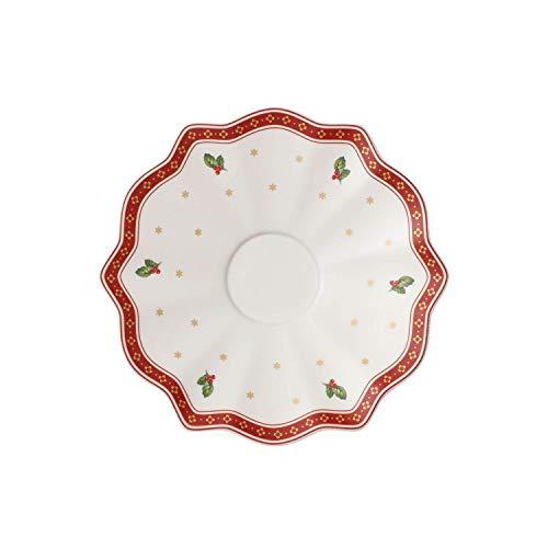 Villeroy & Boch Toy's Delight Sous-tasse, 19 cm, Porcelaine Premium, Blanc/Rouge