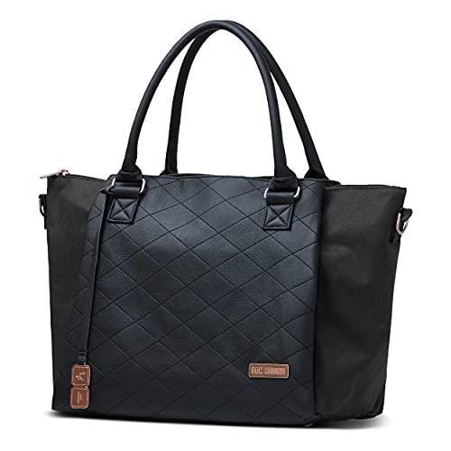 ABC Design Wickeltasche Royal Diamond Edition – Handtasche mit Baby Zubehör – Auch zum Umhängen – Melange Stoff & Leder-Imitat – Farbe: rose gold