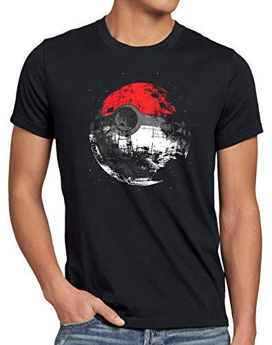 style3 Poke Death Camiseta para Hombre T-Shirt Estrella de la Muerte Ball Star, Talla:4XL
