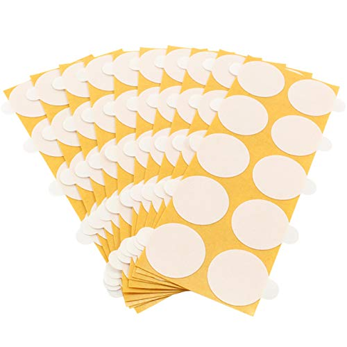 Pastilles adhésive double face-En film de polyéthylène-Très collantes-Transparentes-Diamètre et conditionnement au choix-Indéchirables, résistants aux UV, aux hautes températures et à l'usure-Universelles