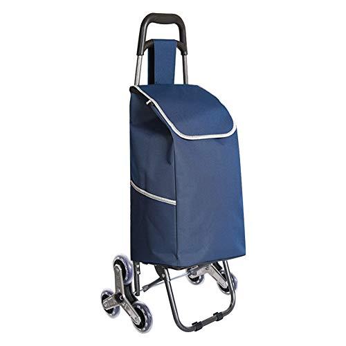 Daytwork Einkaufen Trolley Tasche - Groß Kapazität Faltbar 6 Rad Rollen Schieben Wagen mit Abnehmbar Tasche für Picknick Zuhause Lagerung Einkaufen