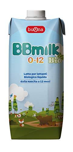 BBmilk 0-12 Bio liquido – Nuova formula, ancora più ricco - Latte liquido biologico per lattanti- pronto all'uso – 500 ml – 12 pezzi