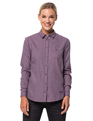 Jack Wolfskin Alin Shirt Femme Aubergine Checks FR: XL (Taille Fabricant: XL)