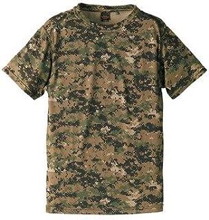 自衛隊海外派遣使用?立体裁断?吸汗速乾さらさらドライ迷彩TシャツピクセルウッドランドS