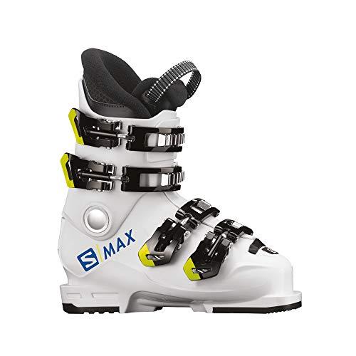 SALOMON Botas Alpinas S/MAX 60T M esquí, Niños, WH/Acid Gree, Sistema Tallas...