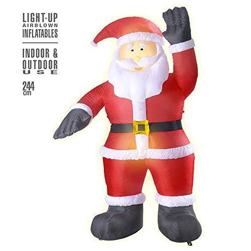 Widmann – uppblåsbar jultomte, dekoration med ljus