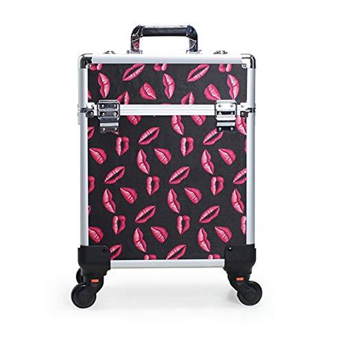 Valise/Mallette/Trolley à Maquillage, Bijoux et cosmétique Beauty Case, roulettes pivotantes avec (Color : 7)