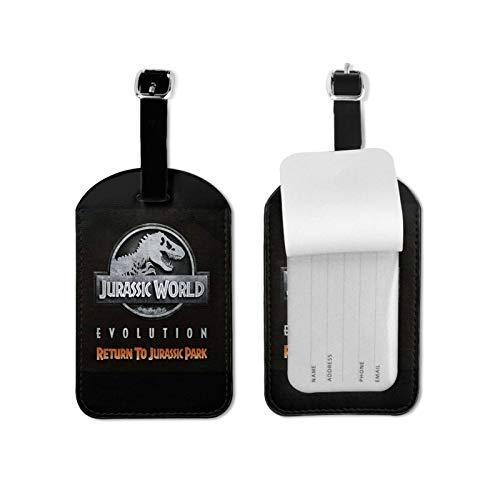 J-Urassic Park encantador seguro equipaje etiquetas maleta equipaje etiquetas tarjeta de visita titular de la tarjeta de identificación/bolsa de identificación de viaje etiqueta microfibra cuero de