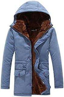 JapHot 中綿ジャケット 中綿 ダウンジャケット メンズ 裏起毛 スタンドカラー ブルゾン 防風 防寒 保温性 フード付き ダウンコート コート シンプル 無地 冬服
