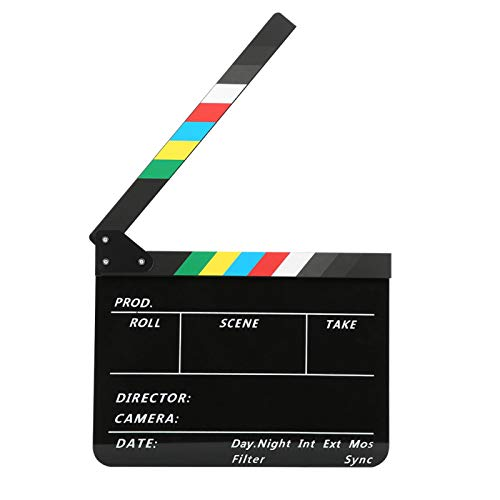 DAUERHAFT Director Clapperboard Fondo Negro con Rayas Colori
