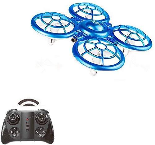 ADLIN Mini aviones no tripulados for el helicóptero del control de mano de juguete 3-10 Años de Edad Boy inducción Aviones de juguete de control remoto Sensor del mando a cuatro ejes Aviones infrarroj