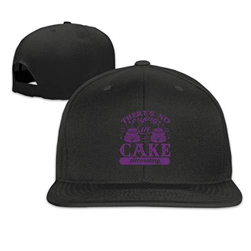 iuitt7rtree Gorra de béisbol Snapback: sin llanto en la decoración de Pasteles...