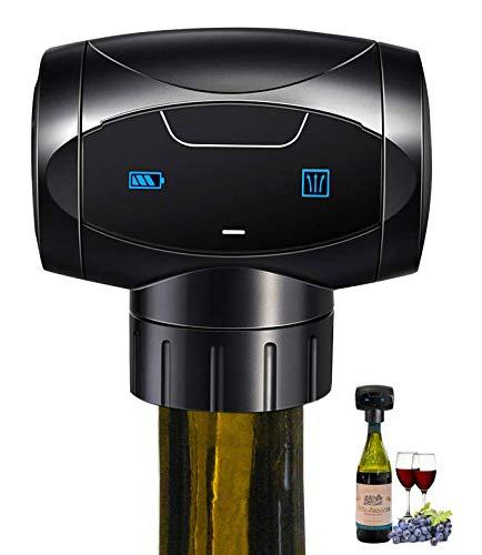 WUTASU Tapón automático para botellas de vino reutilizable, para almacenar y mantener la frescura eléctrica al vacío, accesorio de vino, regalo para los amantes del vino