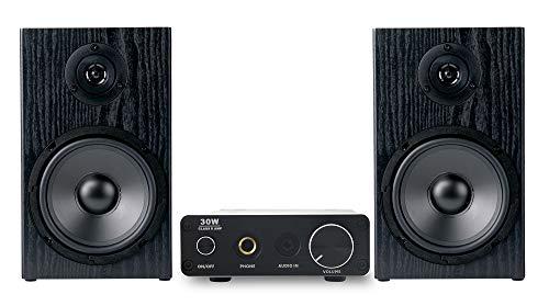 McGrey BMS-80 BK Micro-Stereo Anlage - inkl. Mini-Verstärker und Boxenkabel - Cinch und AUX-Eingang - 80 Watt - schwarz