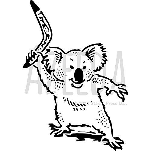 A3 'Koala Mit Bumerang' Wandschablone / Vorlage (WS00038850)
