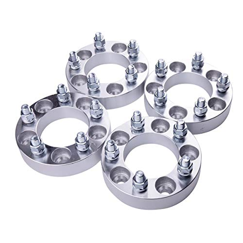 """WEELTECH 4pc 1.25"""" Wheel Spacers 5x4.75 to 5x4.75 with M12x1.5 Studs fits for 1982-2002 for Ch-e-vy Camaro 1984-2018 Corvette 1983-2005 Blazer -  WHEEL TECH AUTO, WTXWS0084"""