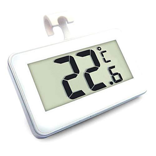 Tuimiyisou Nevera Termómetro Termómetro del Refrigerador, Congelador De Refrigerador del Termómetro Digital Monitor con Gancho para Colgar Pantalla LCD