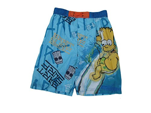 Bart Simpson Badeshorts (128 / ca. 8 Jahre, blau)