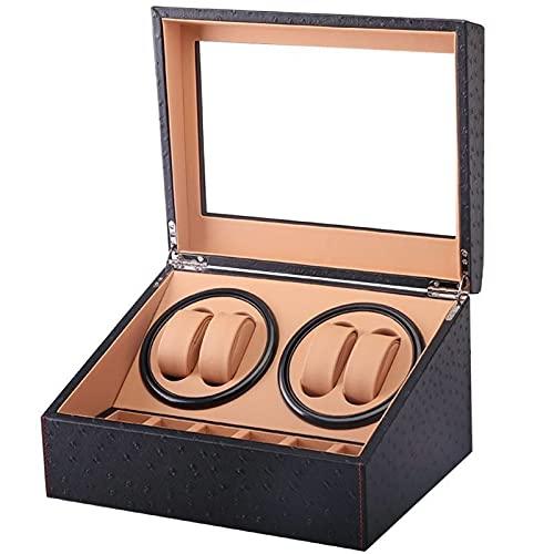 XXSW Cuero Reloj Caja Reloj automático Winder 6+ 4 Caja Sbante Caja de Motor Relojes Mecanismo Casos Cajas de Almacenamiento Pantalla de Relojes Remonteoir Cajas (Color : Inner Brown)
