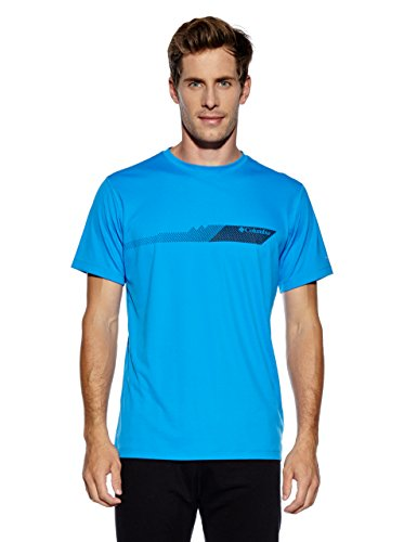 Columbia Zero Rules T-Shirt Homme Hyper Blue FR : XXL (Taille Fabricant : XXL)