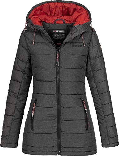 Geographical Norway ASTANA LADY - Damen Warme Wattierte Jacke - Warme Winterjacke Für Frauen Mantel - Langarm Kapuzenjacke - Leichte Wattierte Jacke Outdoor