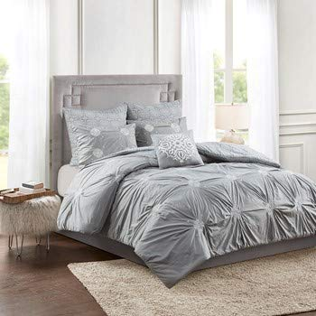 Madison Park Cotton 6 Piece Comforter Set with Over All Embroidery MP10-6861