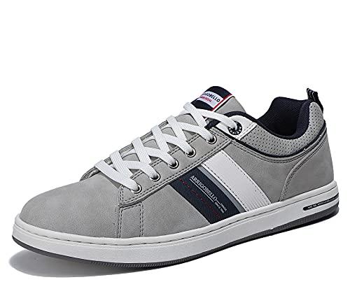 ARRIGO BELLO Zapatillas Hombre Vestir Casual Zapatos Deportivas Sneaker Transpirables Cómodo Running Caminar Correr Trainer Tamaño 41-46 (Gris Oscuro, Numeric_42)