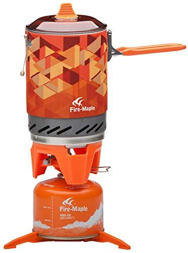 Fire-Maple Star X2 kraftstoffsparendes Kochsystem Campingkocher für Alleinreisende All-in-One, 1 L