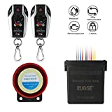 RUPSE 2 Way Motorcycle Anti-Theft Security Burglar Alarm System Moto Scooter Bike PKE Remote Control Alarm Warner with Remote Engine Start