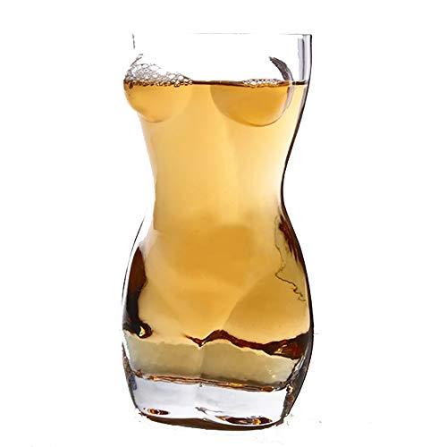 MUYIER Whisky Tazza di Birra, Forma Lady Sexy Male Body Boccale di Birra di Classe per Cocktail Scotch Bourbon Manhattans Storico di Fashioned,Men