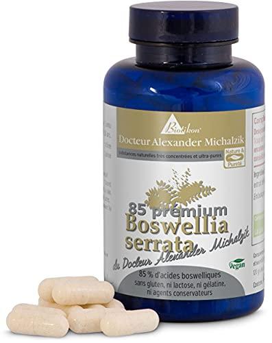 Weihrauch - Boswellia serrata, 400 mg je Kapsel, 100% indischer Weihrauch, Boswelliasäure 85 % hochdosierte Weihrauchtabletten nach Dr. med. Michalzik - Weihrauchkapseln ohne Zusatzstoffe von BIOTIKON®