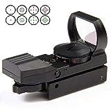 GKD Rotaia Riflescope di Caccia di Ottica 20Mm Holographic Red DOT Sight Reflex 4 del Reticolo Tattico Ambito Collimatore Sight