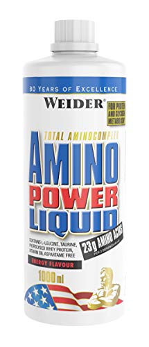 Weider Amino Power Liquid 1L Energy, Essential Amino Acids, L-leucine, Free Taurine, Vitamin B8