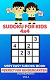 Sudoku For Kids 4x4: Very Easy Sudoku Book (Perfect for Kindergarten) Vol.1