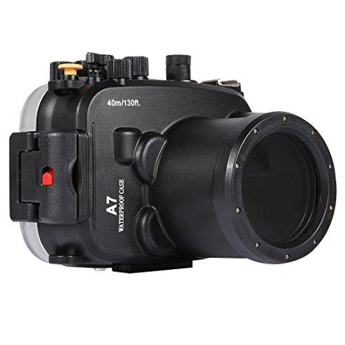 YAOkxin Adecuado para Sony A7/A7S/A7R 40m Submarino Profundidad de Buceo Caso cámara Impermeable Carcasa Profesional fotografía submarina Cubierta Impermeable (FE 28-70mm F 3.5-5.6 OSS) (Negro)