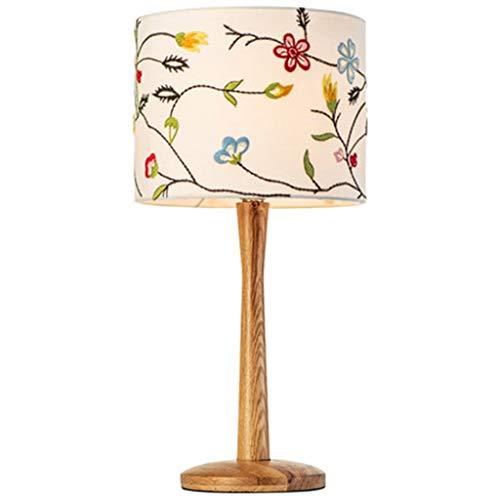 TMS Nordic lamp slaapkamer eenvoudige moderne IKEA warme romantische Amerikaanse pastorale borduurwerk kinderkamer houten nachtlampje Vrije tijd