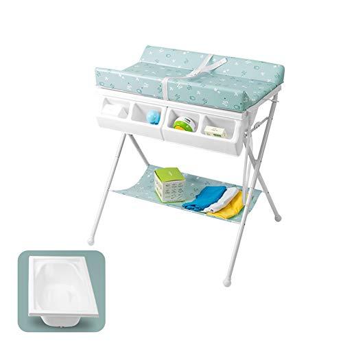 Tables à langer Bébé Portable, Conception Pliable Station De Couche-Culotte Table De Bain pour 0-3 Ans Tout-Petit, Vert (Color : Style1)