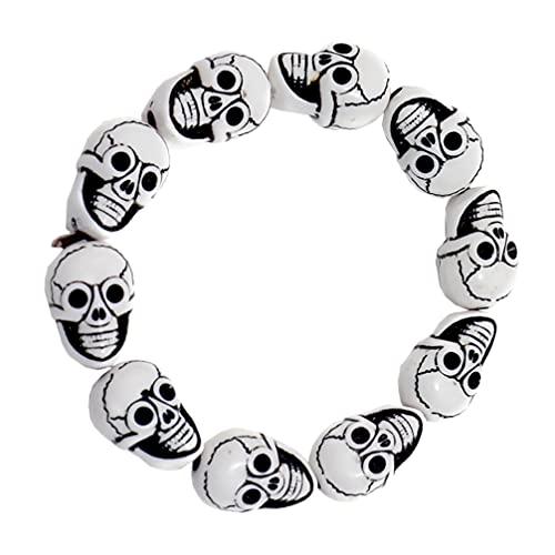 Generic Halloween Cráneo Pulsera Biker Estilo Gótico Enlace Pulsera Cráneo Joyería Regalo para Hombres Mujeres
