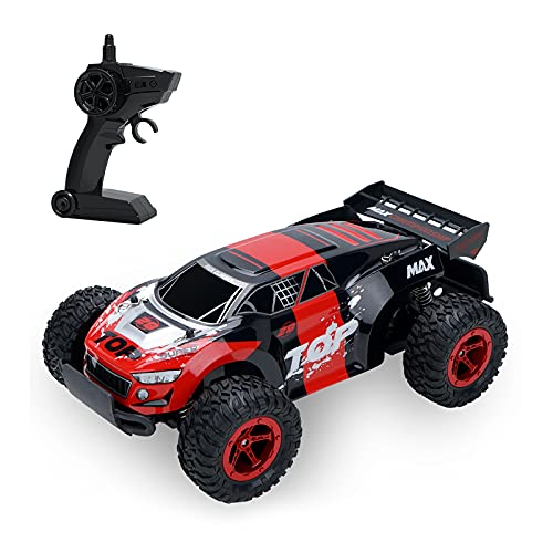 FHDD 2.4GHz 1/14 4WD RC Racing Car Off-Road Electric Cross-Couth Car Speed Auto Spread Race Race Vehicle,Rojo
