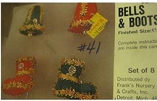 Vintage Lee Wards Franks Nursery Bells & Boots Beaded Ornaments Kit Makes 8
