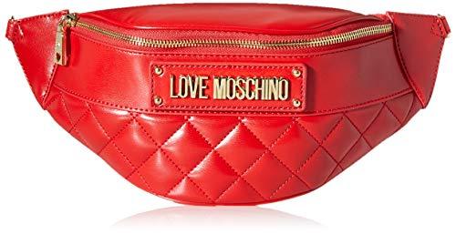 Love Moschino Damen Borsa Quilted Nappa Pu Umhängetasche, Rot (Rosso), 17x32x8 centimeters