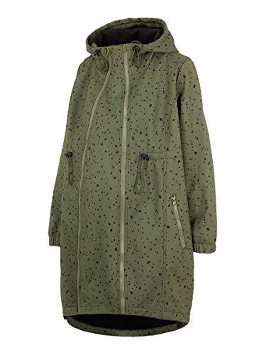 MAMALICIOUS Damen MLSHELLA DOTAOP 3IN1 Softshell Jacket A. Jacke, Olive Night/AOP:Black, S