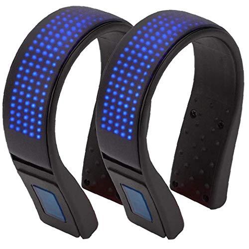 Led Luces del Clip de Zapatillas para Correr de luz de Seguridad Advertencia Zapata a la luz de la Noche Bailando Correr Correr a pie 2pcs Ciclismo Azules