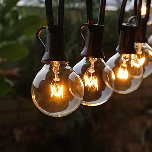 Lichterkette Außen FOCHEA Lichterkette Glühbirnen G40 11m 30er Globe LED Birnen Lichterkette Garten IP44 Wasserdichte für Weihnachten Hochzeit...