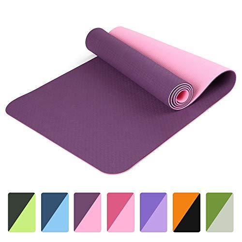 72x24in antislip yogamat Tpe Eco-vriendelijke Pilates Gym Fitnessmatten met draagriem en opbergtas binnen en buiten