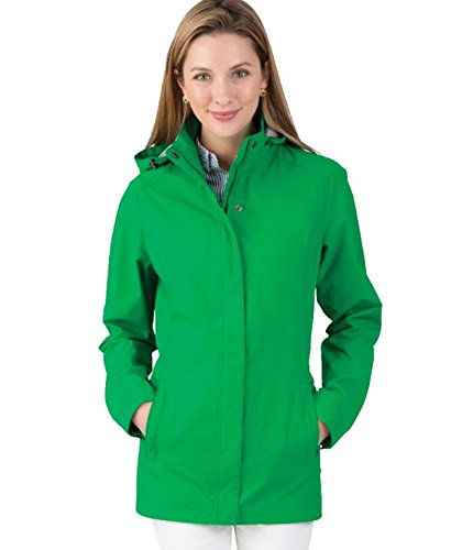 Charles River Apparel Women's Women's Logan Wind & Water Resistant Drop Tail Jacket, Kelly Green, M