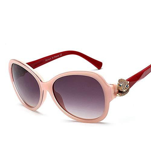 WOYBAOF Gafas de Sol de Gama Alta clásicas para Mujeres, Gafas de Sol polarizadas, Gafas de Sol de Alta Gama Vintage Decorativas para Viajes al Aire Libre (Color : Pink/Red)