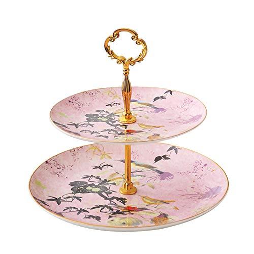 DIBAO Tarde té fiesta pastel soporte de estilo europeo hueso china doble...