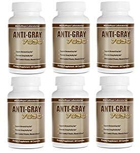 Anti-Gray Hair 7050 Helps Restore Natural Hair Color 60 Capsules Per Bottle 6 Bottles