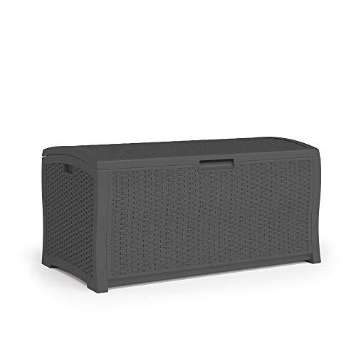 Suncast DBW9936P Extra Large Deck Box, Peppercorn